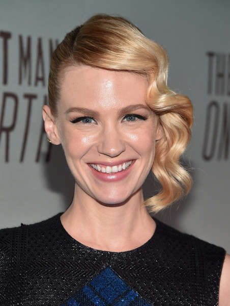 January Jones Retro Updo [the last man on earth,hair,face,hairstyle,blond,eyebrow,lip,beauty,chin,smile,forehead,january jones,big daddy,california,los angeles,antique shop,fox,red carpet,premiere,premiere]