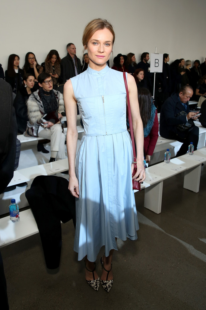Diane Kruger Celebrities Front Row At New York Fashion Week Stylebistro