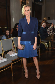 Diane Kruger looked impeccable in a dual-textured coat dress by Jason Wu while attending the label's fashion show.