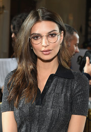Emily Ratajkowski was casually coiffed with this subtly wavy 'do at the Jason Wu fashion show.