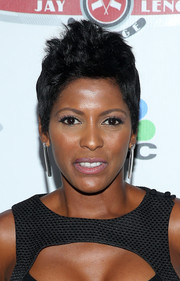 Tamron Hall looked tough-chic with her fauxhawk at the Jay Leno's Garage launch party.