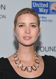 Ivanka Trump wore a sheer pale pink lipgloss at a Jay-Z concert benefiting the United Way.