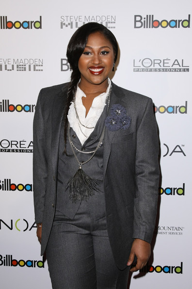 Jazmine Sullivan Long Braided Hairstyle