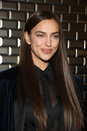 Irina Shayk showed off a sleek straight 'do at the Jean Paul Gaultier Couture Spring 2019 show.