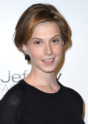 Elettra Wiedemann opted for a casual short 'do when she attended the Jeffrey Fashion Cares fundraiser.