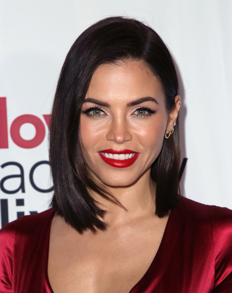 Jenna Dewan Asymmetrical Cut [love actually live,hair,lip,face,hairstyle,eyebrow,chin,red,beauty,black hair,skin,arrivals,jenna dewan,wallis annenberg center for the performing arts,beverly hills,california,reception,opening night reception]