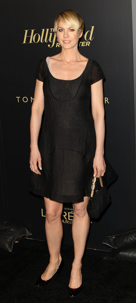 Jenna Elfman Little Black Dress [the hollywood reporter,clothing,dress,cocktail dress,little black dress,fashion model,shoulder,fashion,hairstyle,footwear,leg,jenna elfman,reporter,big 10 party - arrivals,hollywood,california,los angeles,getty house,nominees night party]