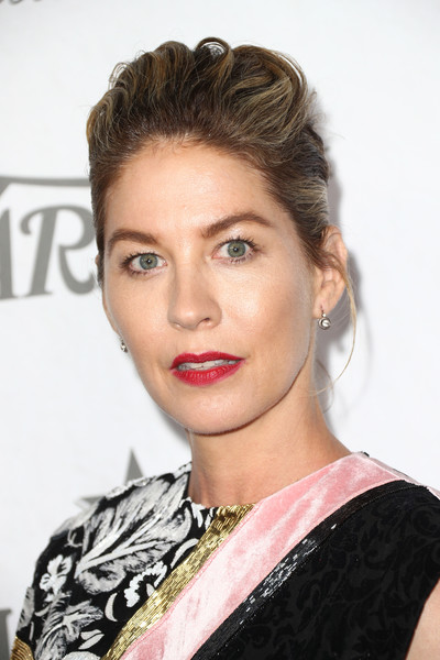 Jenna Elfman Pompadour [variety and women in film,variety and women in films 2018 pre-emmy celebration,hair,eyebrow,face,hairstyle,lip,chin,beauty,skin,fashion model,blond,jenna elfman,arrivals,west hollywood,california,cecconi,2018 pre-emmy celebration]