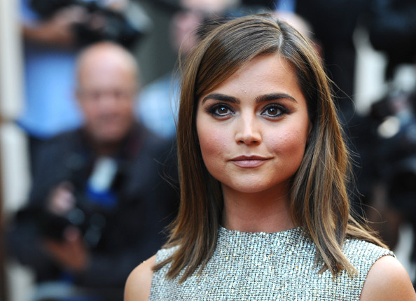 Jenna-Louise Coleman Medium Straight Cut