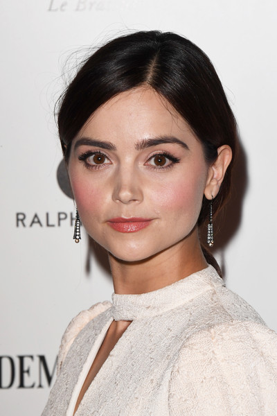 Jenna-Louise Coleman Loose Ponytail [hair,face,eyebrow,hairstyle,lip,chin,beauty,skin,fashion model,shoulder,arrivals,jenna coleman,harpers bazaar women of the year awards,england,london,claridges hotel,harpers bazaar woman of the year awards]