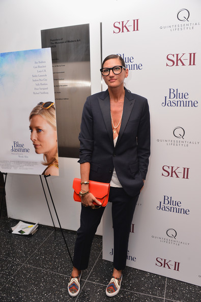Jenna Lyons Leather Clutch [blue jasmine,red,design,event,carpet,job,jenna lyons,new york,j crew,museum of modern art,premiere,new york premiere]