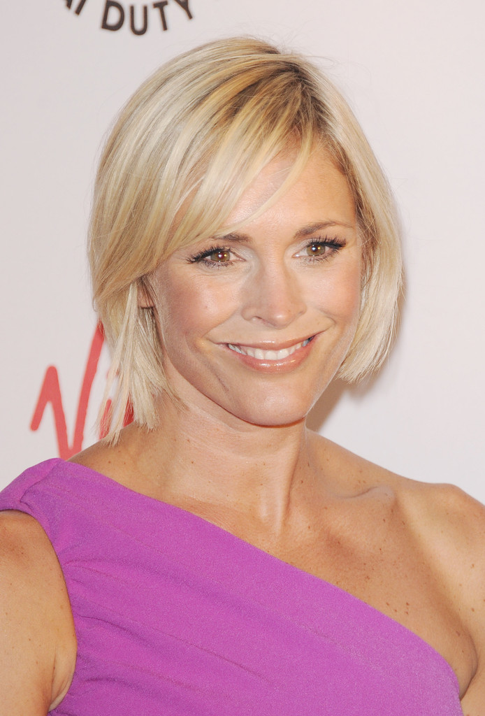 Jenni Falconer Side Parted Straight Cut Short Hairstyles