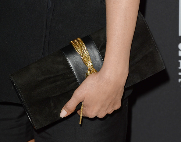 Jennifer Aniston Suede Clutch