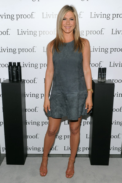 Jennifer Aniston Suede Dress