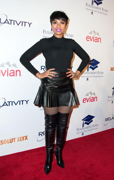 Jennifer Hudson Over the Knee Boots