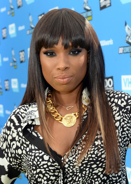 Jennifer Hudson Long Straight Cut with Bangs
