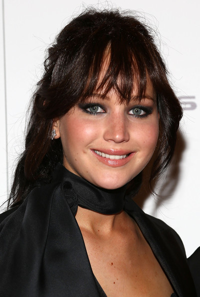 Jennifer Lawrence Ponytail [silver linings playbook,hair,beauty,hairstyle,eyebrow,chin,fashion model,bangs,smile,long hair,black hair,jennifer lawrence,new york,florence gould hall,premiere,new york premiere]