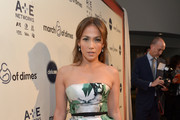 Jennifer Lopez Strapless Dress