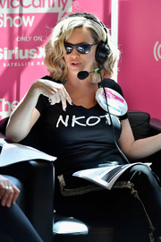 Jenny McCarthy hosted her SiriusXM show wearing a New Kids on the Block tee.