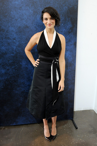 Jenny Slate Halter Dress [actors,jenny slate,variety studio: actors on actors,clothing,fashion model,dress,cocktail dress,standing,shoulder,little black dress,neck,fashion,formal wear,los angeles,california,variety studio,samsung galaxy]