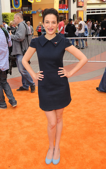 Jenny Slate Mini Dress [dr. seuss the lorax,clothing,flooring,little black dress,dress,fashion,leg,carpet,red carpet,footwear,human leg,arrivals,jenny slate,dr. suess,cg,universal studios hollywood,illumination entertainment,universal pictures,premiere,premiere]