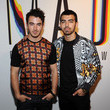 The Jonas Brothers at Jeremy Scott