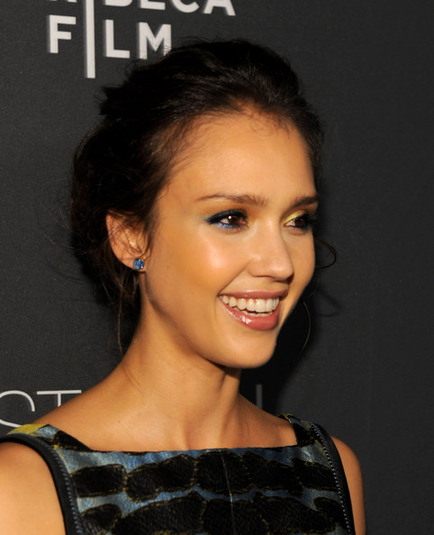 messy updos for long hair. Jessica Alba Hair