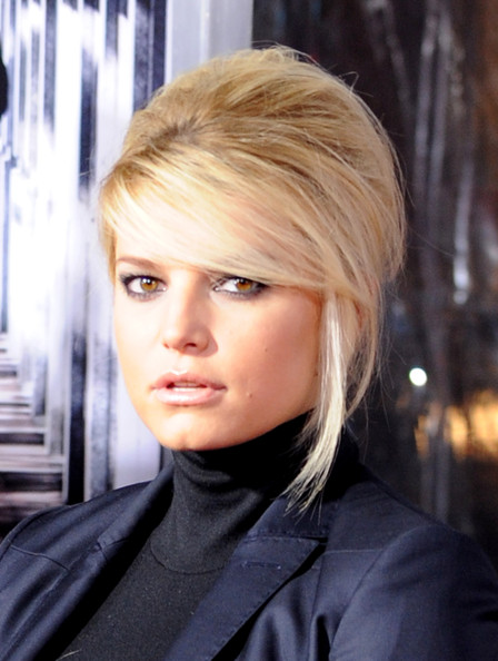 jessica simpson hair updo. Jessica Simpson Hair