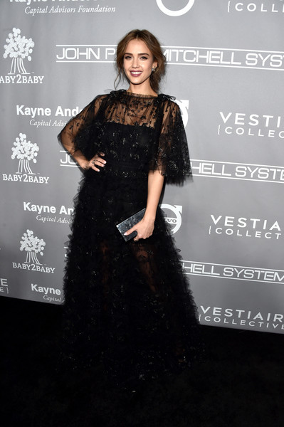 Jessica Alba Lace Dress