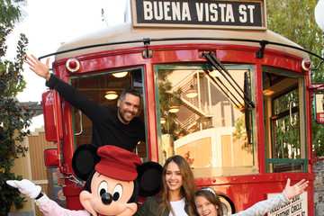 Jessica Alba Honor Warren Jessica Alba and Her Family Visit Disney California Adventure