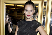 Jessica Alba's Rich Red Lipstick at the Versace for H&M Fashion Event