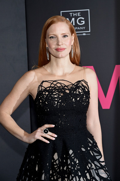 Jessica Chastain Cocktail Ring [mollys game,clothing,dress,fashion model,cocktail dress,fashion,hairstyle,shoulder,beauty,long hair,blond,jessica chastain,new york,amc loews lincoln square,new york premiere]
