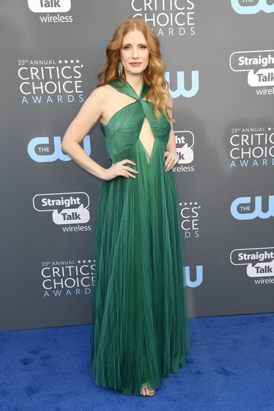 Jessica Chastain Cutout Dress