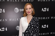Jessica Chastain Wrap Dress