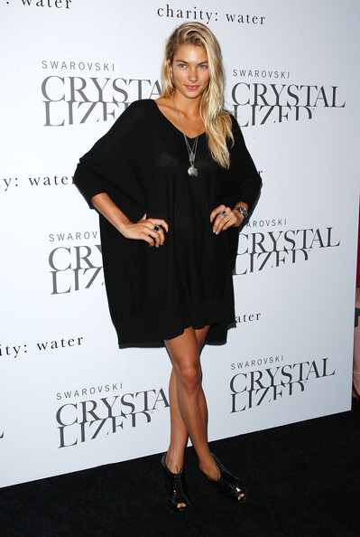 Jessica Hart Little Black Dress [clothing,dress,little black dress,cocktail dress,shoulder,fashion,footwear,joint,premiere,shoe,jessica hart,swarovski crystallized concept,swarovski crystallized concept store,store,new york city,grand opening,grand opening]