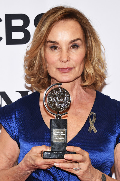 Jessica Lange Curled Out Bob [jessica lange,tony awards,award,best performance by an actress in a leading role,award,room,the beacon theatre,new york city]