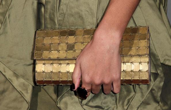 Jessica Lucas Metallic Clutch