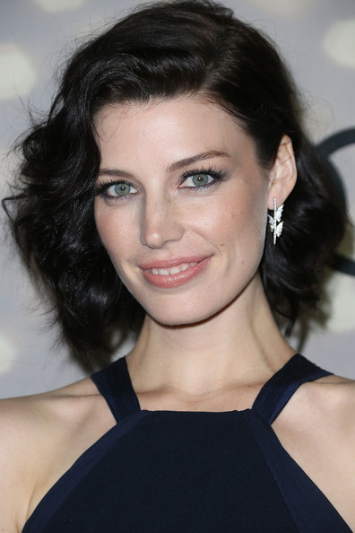 Jessica Pare Short Curls [hair,face,eyebrow,hairstyle,chin,lip,beauty,black hair,shoulder,skin,altuzarra,jessica pare,primetime emmy awards,california,los angeles,cecconis restaurant,audi,party,kick-off,kick-off party]