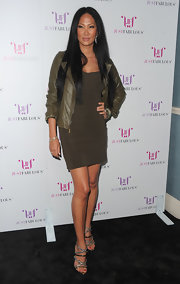 Kimora Lee Simmons styled her raven longs in a sleek straight cut at the launch of 'Just Fabulous.'