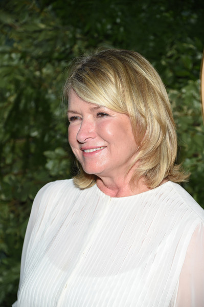 Martha Stewart styled her hair into a bouncy bob for the 10th anniversary of the Jessica Simpson Collection.