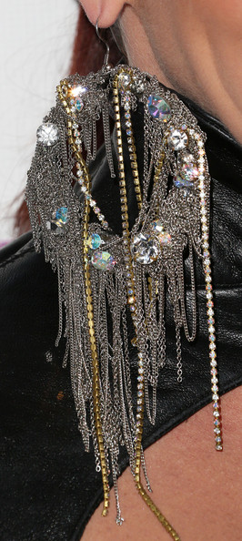 Jessica Sutta Sterling Chandelier Earrings [fashion,body jewelry,fashion accessory,jewellery,fashion design,outerwear,chain,silver,necklace,arrivals,jessica sutta,friends n family,california,hollywood,paramount studios,event]
