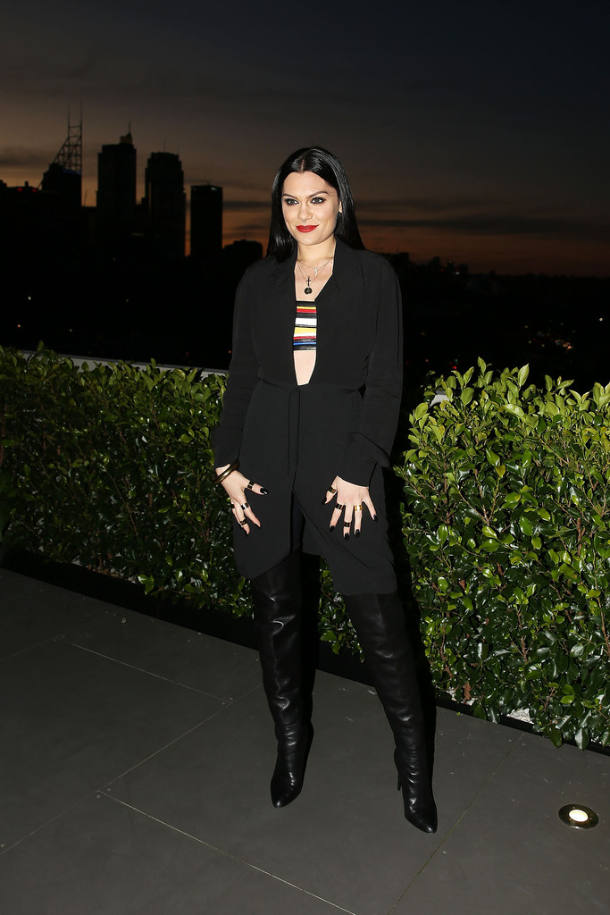 Jessie J Over The Knee Boots Over The Knee Boots