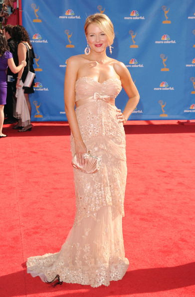 Jewel Evening Dress [gown,red carpet,fashion model,dress,carpet,clothing,hair,shoulder,flooring,hairstyle,arrivals,primetime emmy awards,california,los angeles,nokia theatre l.a. live,singer jewel,annual primetime emmy awards]