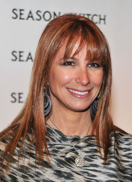 Jill Zarin Long Straight Cut with Bangs