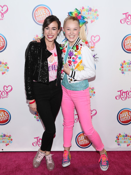 More Pics of JoJo Siwa Track Jacket (1 of 32) - Outerwear Lookbook - StyleBistro [pink,fashion,youth,event,outerwear,fashion design,jeans,carpet,talent show,performance,jojo siwa,colleen ballinger,hollywood,california,dave busters,birthday party]