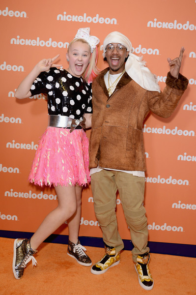 JoJo Siwa Mini Skirt [pink,fashion,fun,footwear,photography,happy,style,photo caption,talent show,flooring,nickelodeon upfront 2018,nick cannon,jojo siwa,repeat,new york city,palace theatre,nickelodeon]
