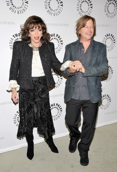 Joan Collins Evening Coat [rules of engagement,fashion,fashion design,fun,event,gesture,style,actors,cast,david spade,joan collins,l-r,beverly hills,california,paley center for media,paley center for media presents ``rules of engagement]
