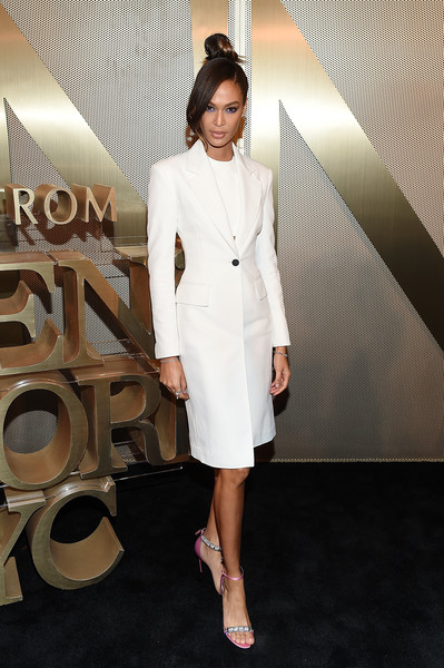 Joan Smalls Evening Sandals [nordstrom men,jourdan dunn,clothing,white,fashion,suit,dress,formal wear,fashion model,cocktail dress,leg,fashion design,nyc store opening,nyc store,new york city]