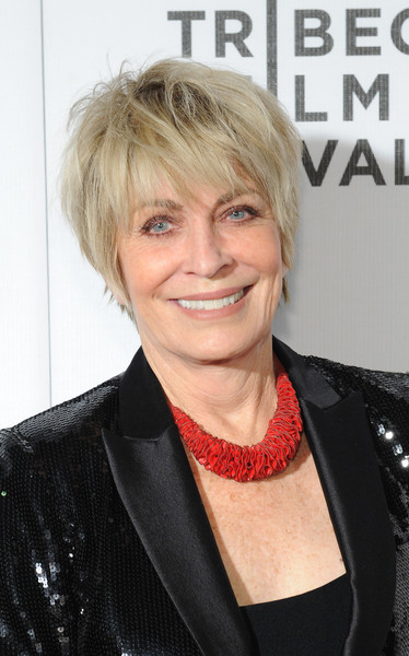 Joanna Cassidy Layered Razor Cut [hair,hairstyle,blond,chin,lip,layered hair,bob cut,feathered hair,hair coloring,bangs,joanna cassidy,equals,new york city,bmcc john zuccotti theater,equals red carpet premiere,tribeca film festival]