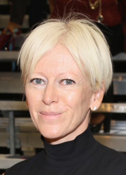 Joanna Coles Short Straight Cut [hair,face,hairstyle,blond,eyebrow,chin,forehead,head,bob cut,hair coloring,tommy hilfiger womens,joanna coles,front row,new york city,pier 94,mercedes-benz fashion week,fashion show]